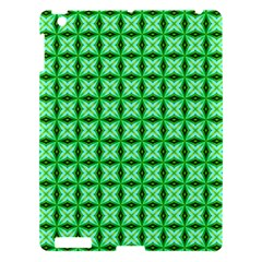 Green Abstract Tile Pattern Apple Ipad 3/4 Hardshell Case by creativemom