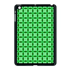 Green Abstract Tile Pattern Apple Ipad Mini Case (black) by creativemom