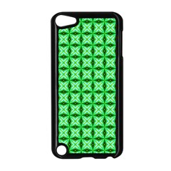 Green Abstract Tile Pattern Apple Ipod Touch 5 Case (black) by creativemom