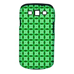 Green Abstract Tile Pattern Samsung Galaxy S Iii Classic Hardshell Case (pc+silicone) by creativemom