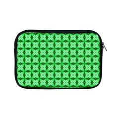 Green Abstract Tile Pattern Apple Ipad Mini Zippered Sleeve by creativemom