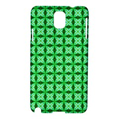 Green Abstract Tile Pattern Samsung Galaxy Note 3 N9005 Hardshell Case by creativemom