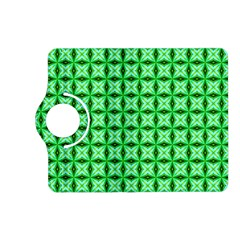 Green Abstract Tile Pattern Kindle Fire Hd (2013) Flip 360 Case by creativemom