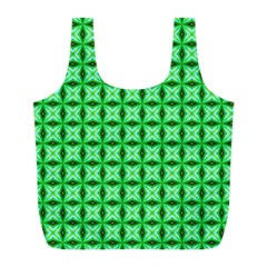 Green Abstract Tile Pattern Reusable Bag (l) by creativemom