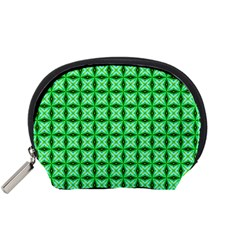 Green Abstract Tile Pattern Accessory Pouch (small) by creativemom