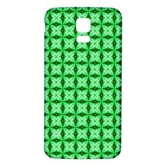 Green Abstract Tile Pattern Samsung Galaxy S5 Back Case (white) by creativemom