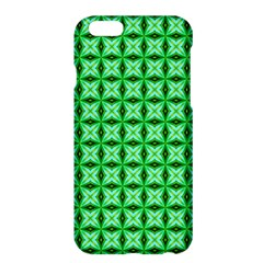 Green Abstract Tile Pattern Apple Iphone 6 Plus Hardshell Case by creativemom