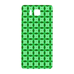 Green Abstract Tile Pattern Samsung Galaxy Alpha Hardshell Back Case by creativemom