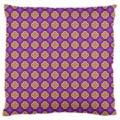 Purple Decorative Quatrefoil Large Cushion Case (single Sided)  by creativemom