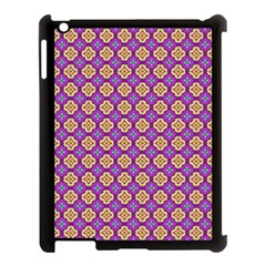 Purple Decorative Quatrefoil Apple Ipad 3/4 Case (black) by creativemom