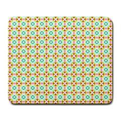 Aqua Mint Pattern Large Mouse Pad (rectangle) by creativemom
