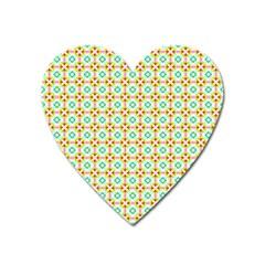Aqua Mint Pattern Magnet (heart) by creativemom