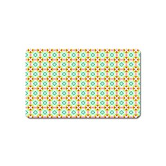 Aqua Mint Pattern Magnet (name Card) by creativemom