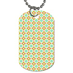 Aqua Mint Pattern Dog Tag (two Sided)  by creativemom