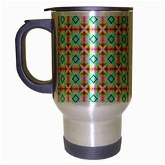 Aqua Mint Pattern Travel Mug (silver Gray) by creativemom