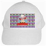 Cupcake with Cute Pig Chef White Baseball Cap