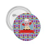Cupcake with Cute Pig Chef 2.25  Button