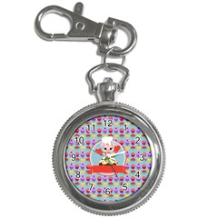 Cupcake With Cute Pig Chef Key Chain Watch by creativemom