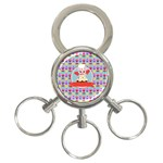 Cupcake with Cute Pig Chef 3-Ring Key Chain