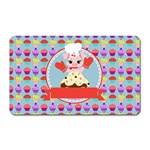 Cupcake with Cute Pig Chef Magnet (Rectangular)