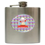 Cupcake with Cute Pig Chef Hip Flask