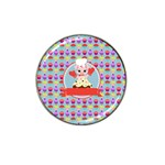 Cupcake with Cute Pig Chef Golf Ball Marker 4 Pack (for Hat Clip)