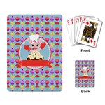 Cupcake with Cute Pig Chef Playing Cards Single Design