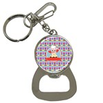 Cupcake with Cute Pig Chef Bottle Opener Key Chain