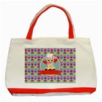 Cupcake with Cute Pig Chef Classic Tote Bag (Red)
