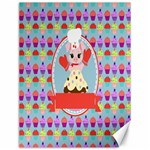 Cupcake with Cute Pig Chef Canvas 12  x 16  (Unframed)