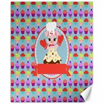 Cupcake with Cute Pig Chef Canvas 16  x 20  (Unframed)
