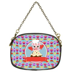 Cupcake With Cute Pig Chef Chain Purse (two Sided)  by creativemom