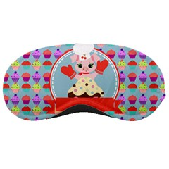Cupcake With Cute Pig Chef Sleeping Mask by creativemom