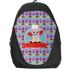 Cupcake With Cute Pig Chef Backpack Bag by creativemom