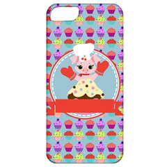 Cupcake With Cute Pig Chef Apple Iphone 5 Classic Hardshell Case by creativemom