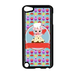 Cupcake With Cute Pig Chef Apple Ipod Touch 5 Case (black) by creativemom