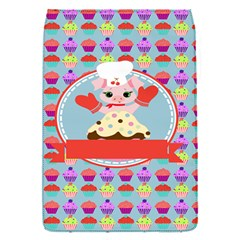 Cupcake With Cute Pig Chef Removable Flap Cover (small) by creativemom