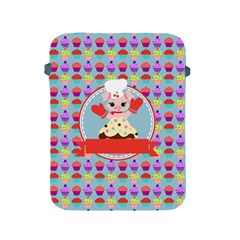 Cupcake With Cute Pig Chef Apple Ipad Protective Sleeve by creativemom
