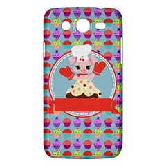 Cupcake With Cute Pig Chef Samsung Galaxy Mega 5 8 I9152 Hardshell Case  by creativemom