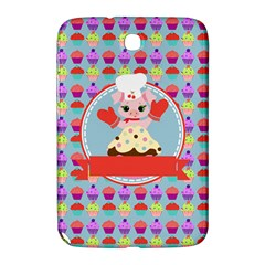 Cupcake With Cute Pig Chef Samsung Galaxy Note 8 0 N5100 Hardshell Case  by creativemom