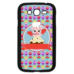 Cupcake With Cute Pig Chef Samsung Galaxy Grand Duos I9082 Case (black) by creativemom