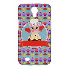 Cupcake With Cute Pig Chef Samsung Galaxy Mega 6 3  I9200 Hardshell Case by creativemom