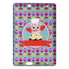 Cupcake With Cute Pig Chef Kindle Fire Hd (2013) Hardshell Case by creativemom