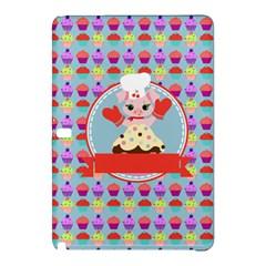 Cupcake With Cute Pig Chef Samsung Galaxy Tab Pro 10 1 Hardshell Case by creativemom