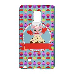 Cupcake With Cute Pig Chef Samsung Galaxy Note Edge Hardshell Case by creativemom