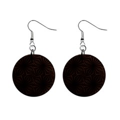 Tribal Geometric Vintage Pattern  Mini Button Earrings by dflcprints