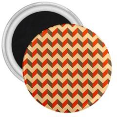 Modern Retro Chevron Patchwork Pattern  3  Button Magnet by creativemom
