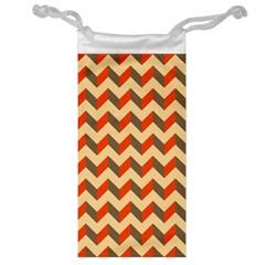 Modern Retro Chevron Patchwork Pattern  Jewelry Bag by creativemom