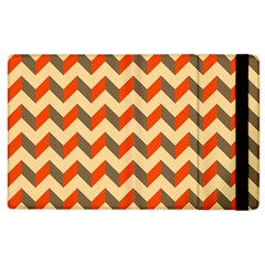 Modern Retro Chevron Patchwork Pattern  Apple Ipad 2 Flip Case by creativemom