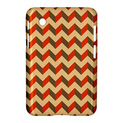 Modern Retro Chevron Patchwork Pattern  Samsung Galaxy Tab 2 (7 ) P3100 Hardshell Case  by creativemom
